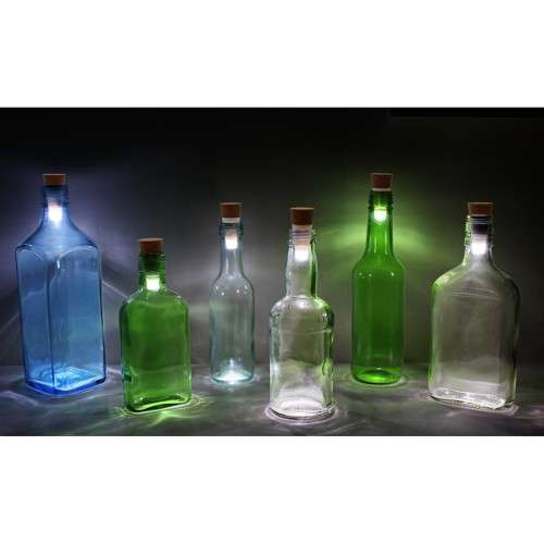 BOTTLE LIGHT, LED Recyclez vos bouteilles en lampes décoratives