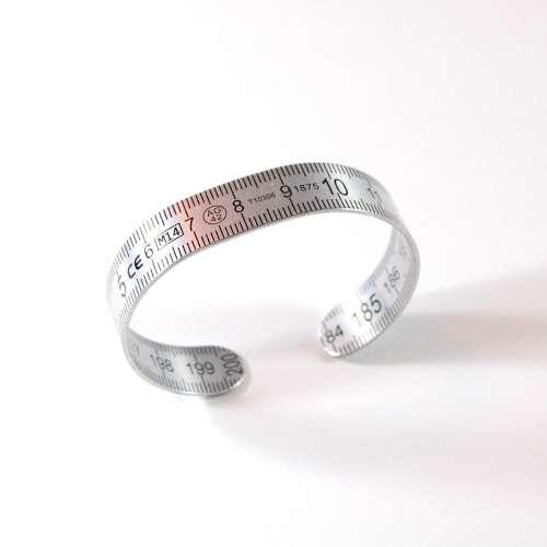 Bracelet Reglet Recyclé en Aluminium - Artisanal