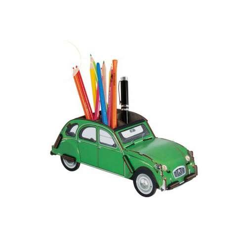 Pot à Crayon en bois 2cv verte - Werkhaus