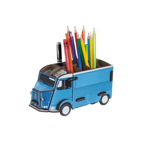 Pot à Crayon Camionnette Citroen HY bleu - Werkhaus