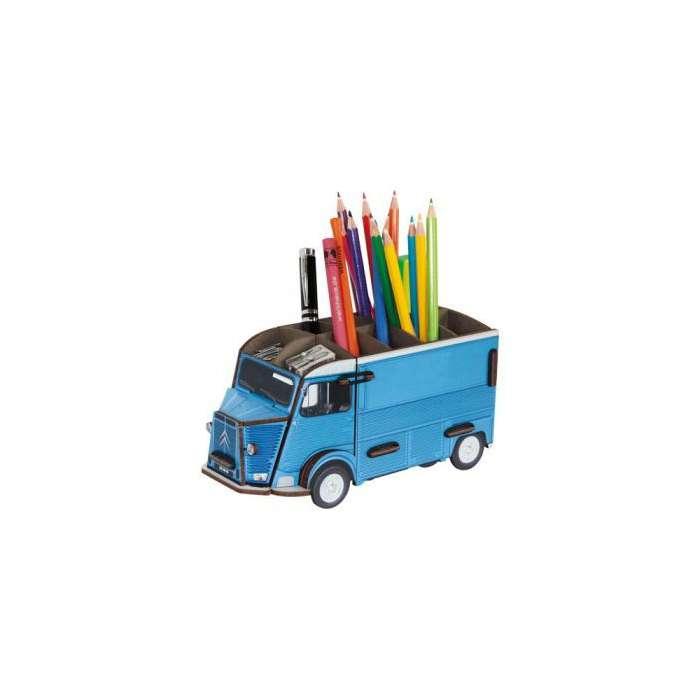 POT A CRAYON camionnette citroen Type H bleu