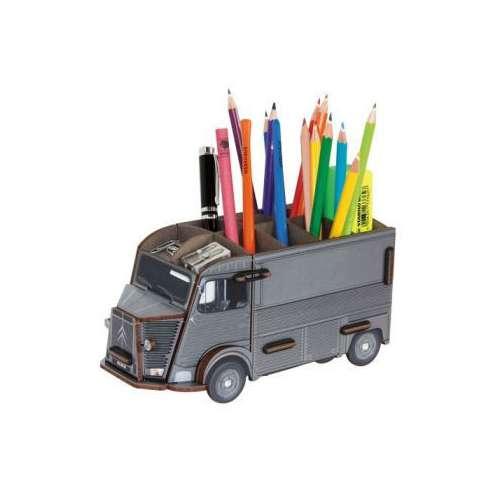 POT A CRAYON camionnette citroen Type H gris