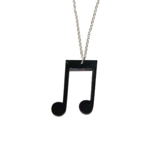 "Collier vinyle """"NOTE"""" Bijoux Johnny Records"