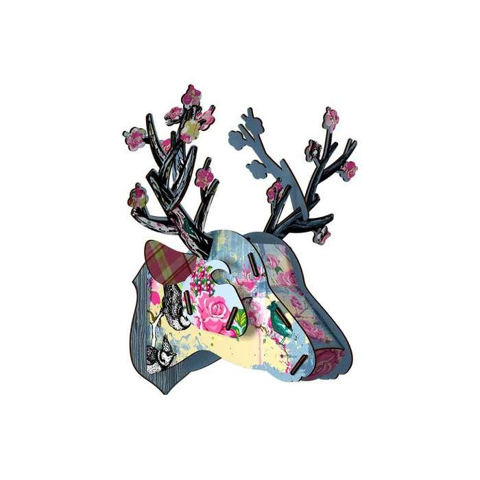 "Trophée Tête de Cerf ""Blossom"" - Miho"