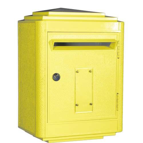 Boite aux Lettres La Poste Jaune , Large