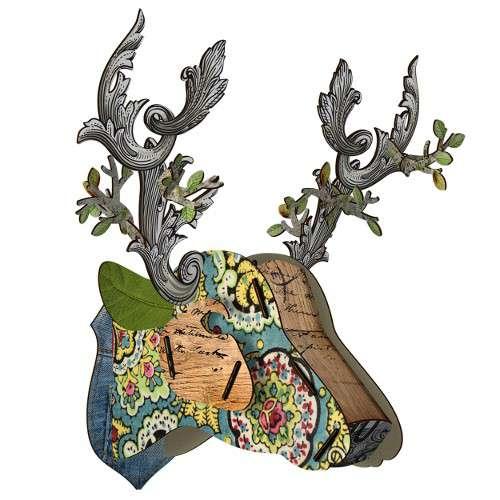 TROPHEE INSOLITE, Cerf décoration murale eco-friendly