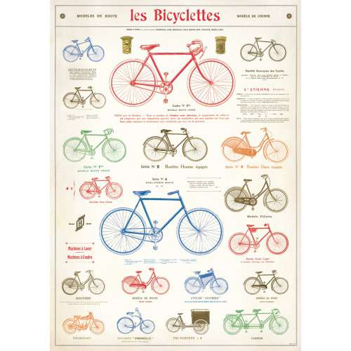 Poster les Bicyclettes Affiche velo Vintage - Cavallini