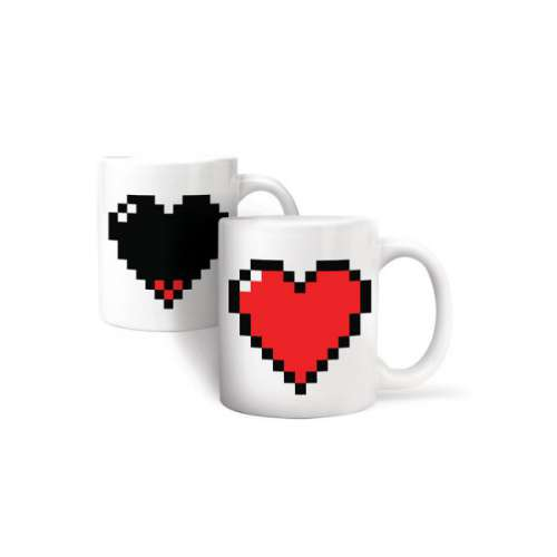 Mug Coeur Pixel, Thermographique