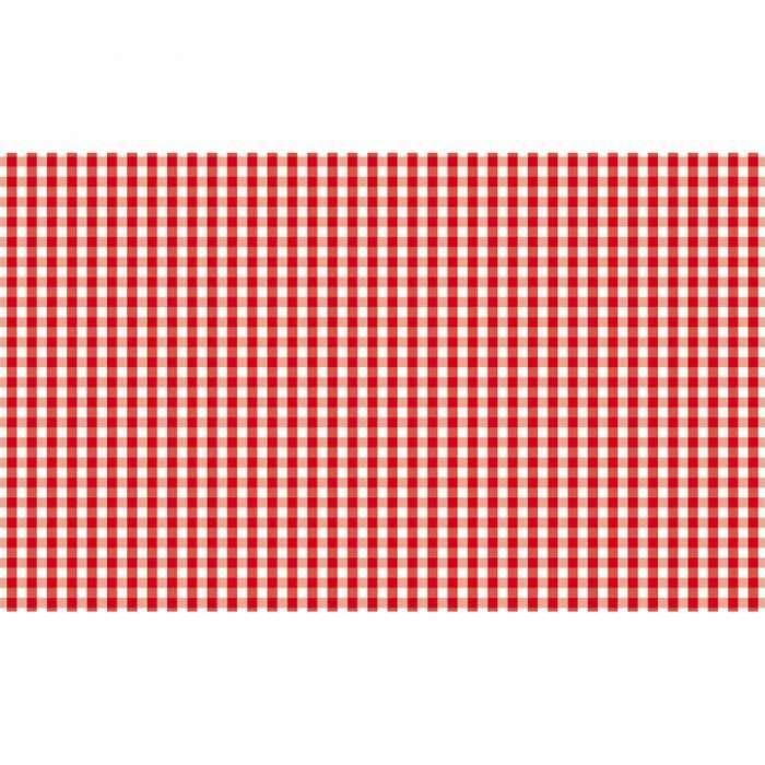 Set de Table en Papier, vichy rouge, Bistrot / ROSE BUNKER