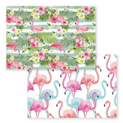 Set de Table motif Flamants Rose - Tropical