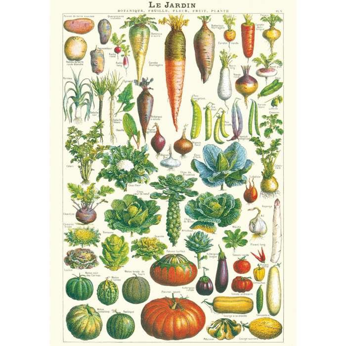 affiche sur les lu00e9gumes du jardin dans un esprit retro ...