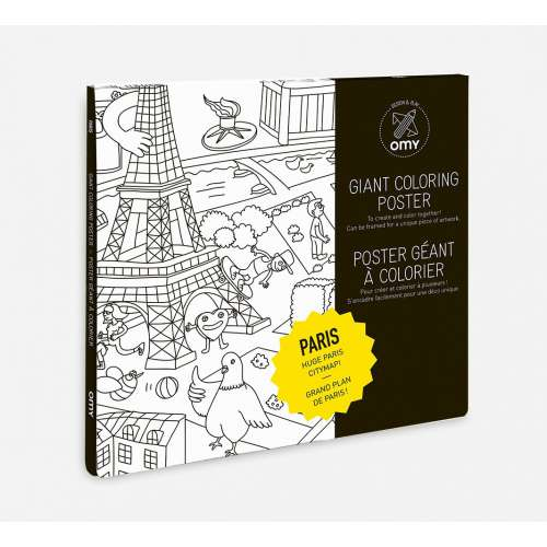 """Poster géant à colorier """"Paris""""- OMY"""