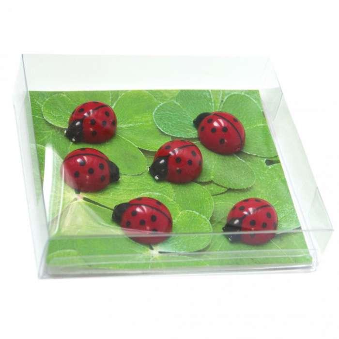 aimants magnets 6 coccinelles pour le frigo rose bunker. Black Bedroom Furniture Sets. Home Design Ideas