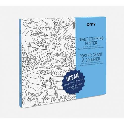 Poster à Colorier géant l'Océan - OMY
