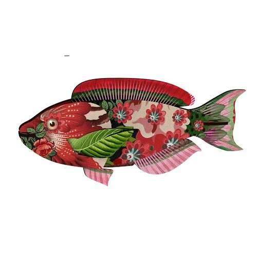 TROPHEE INSOLITE, Poisson S décoration murale eco-friendly