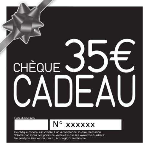 Chèque cadeau 35€ Idée KDO pour toute la Famille