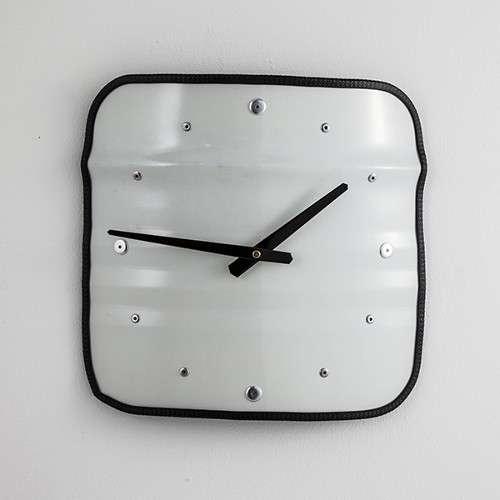 BIDON: HORLOGE- BLANC Grande horloge recyclée