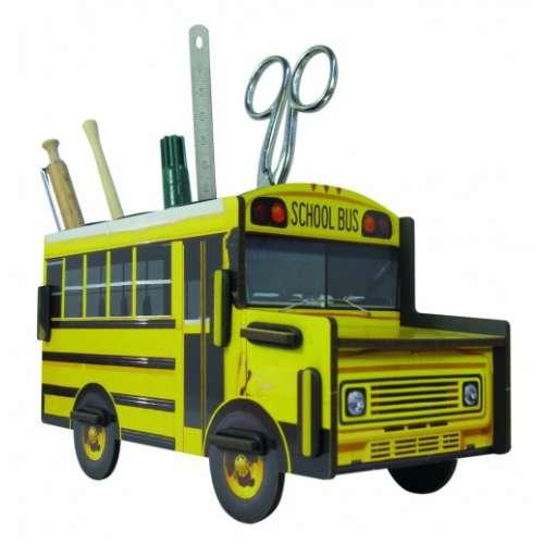 POT A CRAYONS School Bus