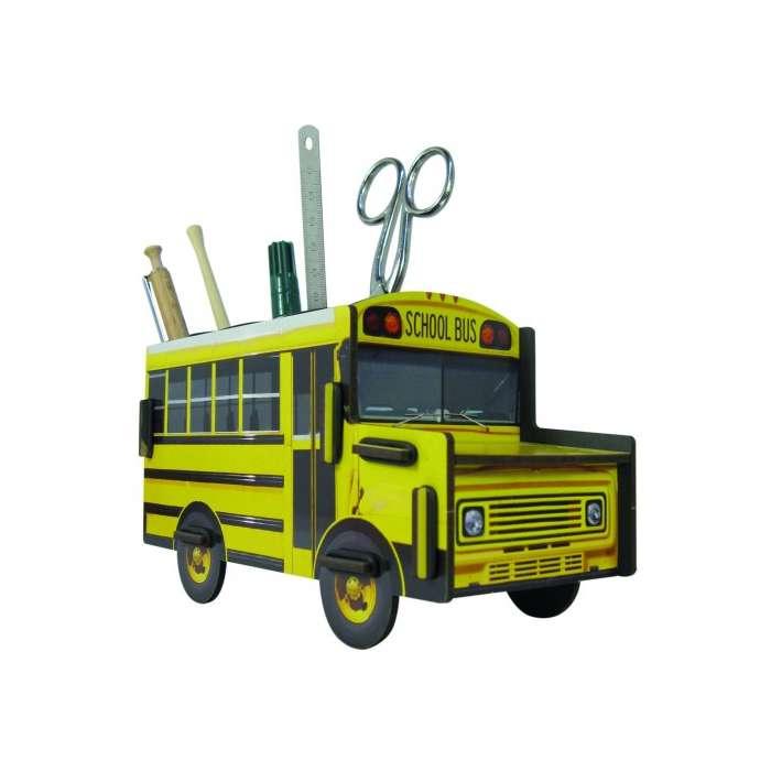 pot à crayon bus scolaire américain
