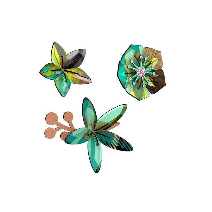 Fleurs décoratives en bois reconstitué - Miho