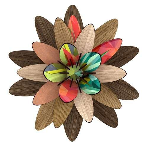 FLEURS DECORATIVES EN BOIS décoration murale eco-friendly