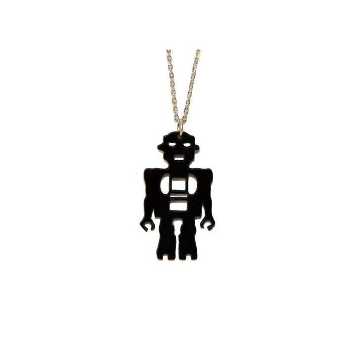 "Collier vinyle """"ROBOT"""" Bijoux Johnny Records"