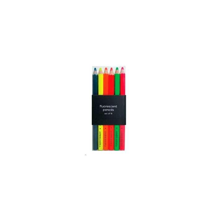 Crayons de Couleurs Fluos - Letterbox
