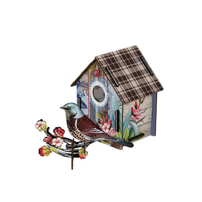 CABANE A OISEAUX (MM) décoration murale eco-friendly