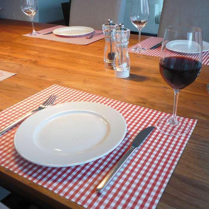 set de table vichy rouge