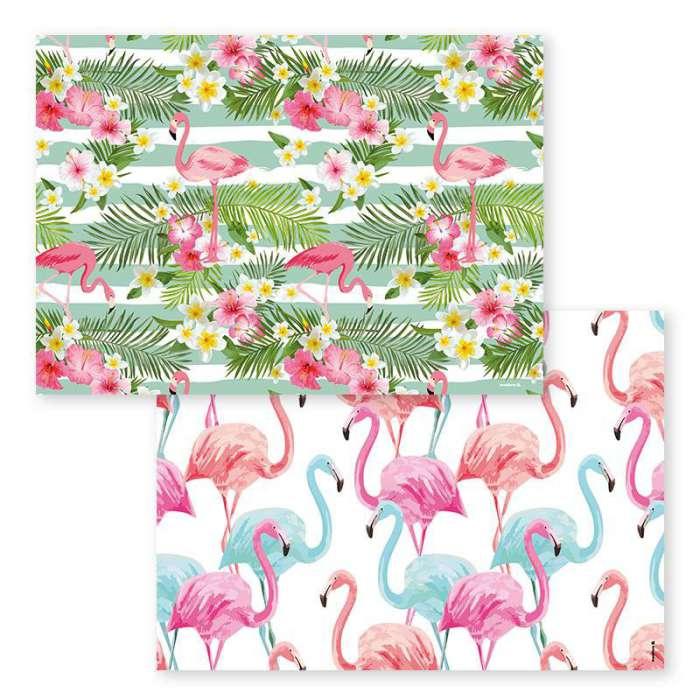 set de table iles-flamants rose