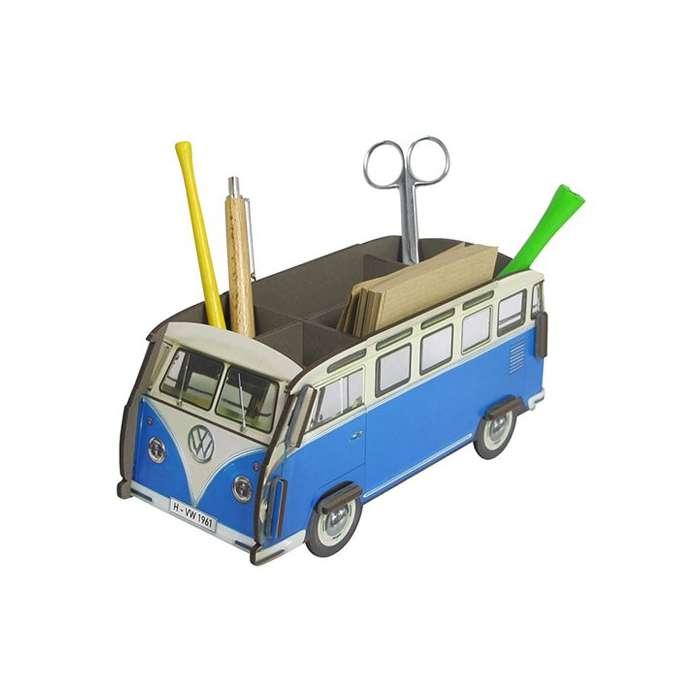 Pot à Crayon Combi bus Volkswagen bleu - WERKHAUS