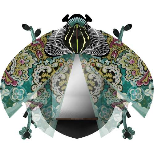 Boite vide-poche et miroir, scarabée, Charlie- MIHO