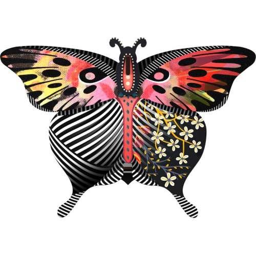 Boite vide-poche et miroir, Papillon, Violetta - MIHO