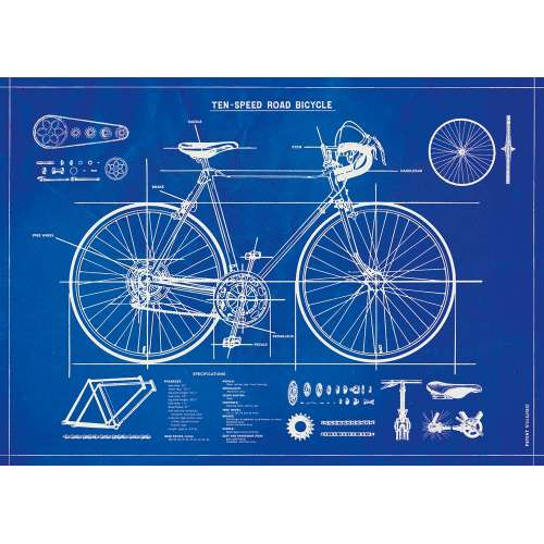 Poster Plan de vélo, Affiche Vintage - Cavallini