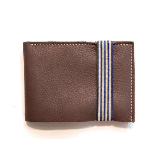 Porte feuille, zippe, cuir homme, Bandit Manchot - France