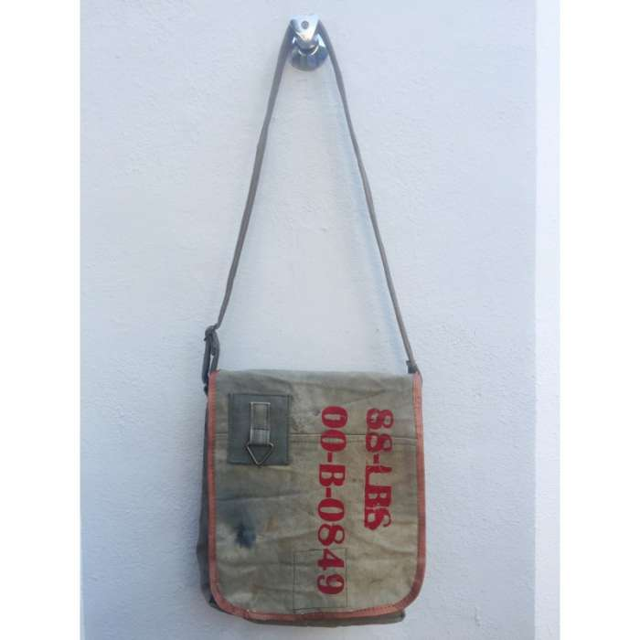 Besace, Sac en Toile Militaire recyclée - Vintage