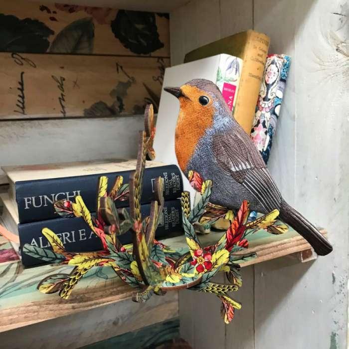 oiseau sur branche d coration little jacky miho rose bunker. Black Bedroom Furniture Sets. Home Design Ideas