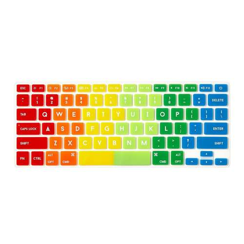 Protection, clavier Mac silicone , Arc en ciel