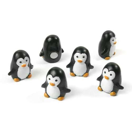 Aimants Magnets 6 Pingouins pour le frigo