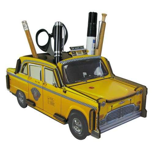 Pot à crayons Voiture Taxi New york jaune - Werkhaus