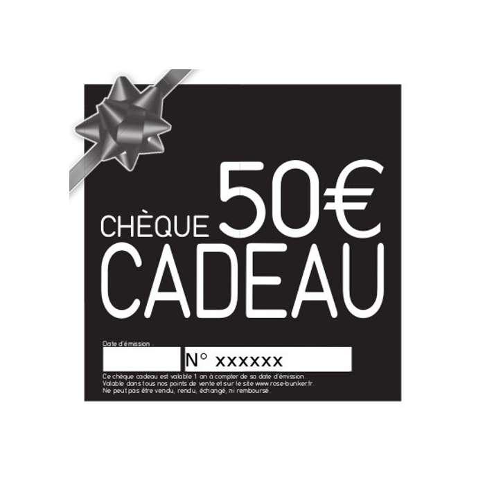 Chèque Cadeau 50,00 € - Idée Cadeau