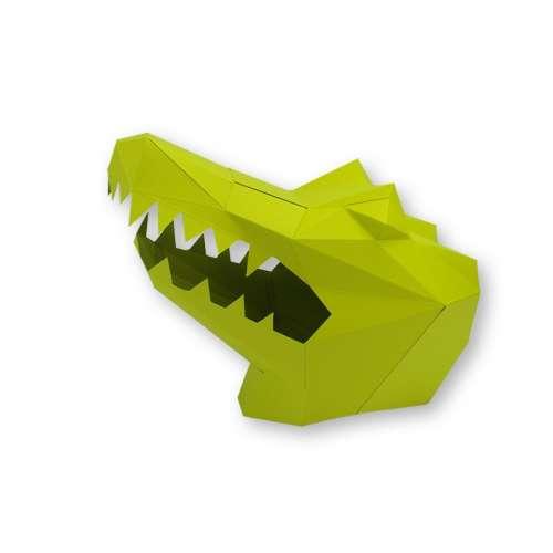 Masque en Papier, a monter soi-même origami 3D - Agent Paper