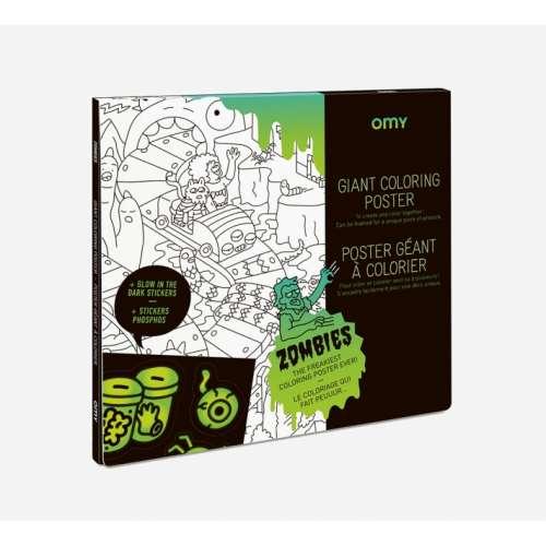 Poster géant à colorier, Les Zombies - OMY