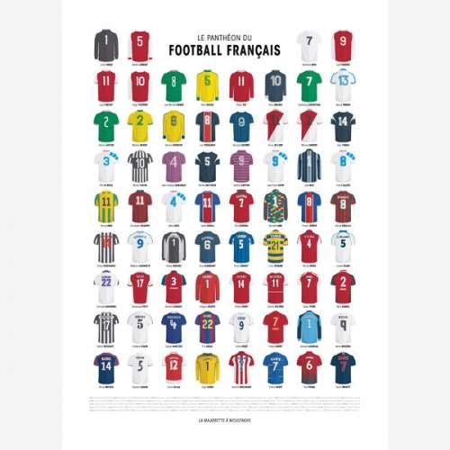 Affiche , Le Panthéon du Foot Français, Poster des Maillots