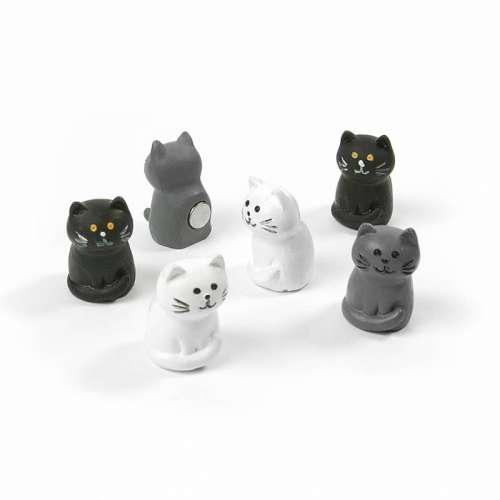 Aimants magnets 6 chats pour le frigo