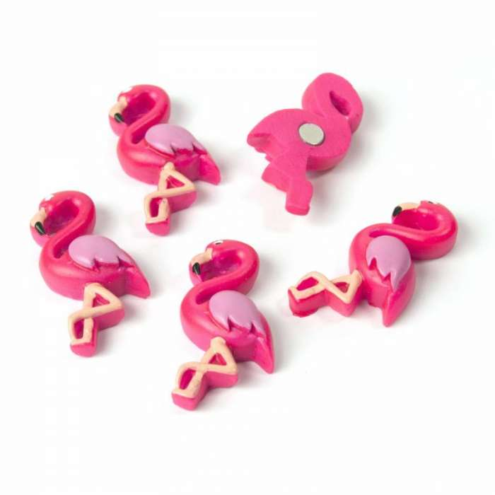 Aimants magnets 6 Flamants Rose pour le frigo