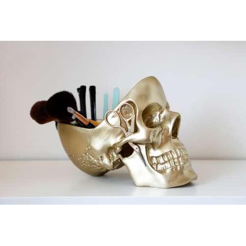 Vide Poche Crane Skull doré - Suck Uk