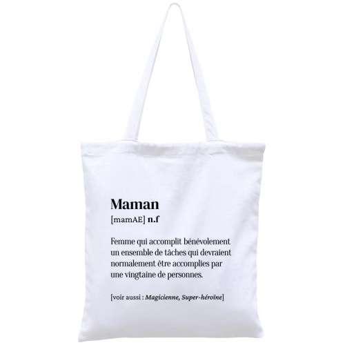 Totebag, sac coton réutilisable, Maman