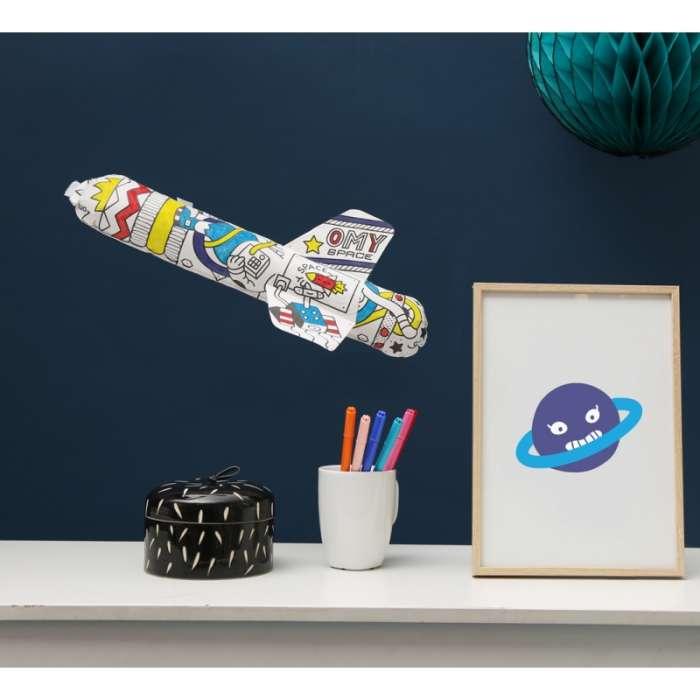 Fusée gonflable à colorier - OMY