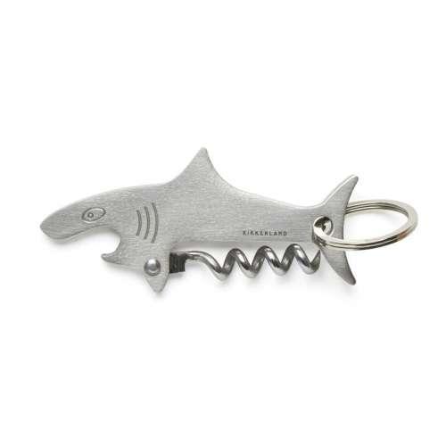 Porte-clé Décapsuleur, Tire bouchon Requin en Inox